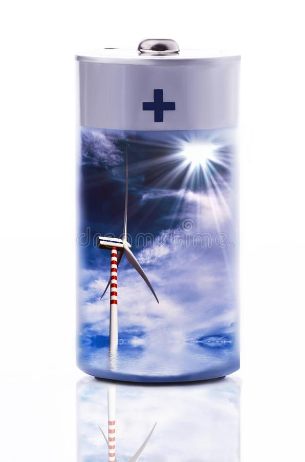 Conceptual illustration of clean energy stock illustration