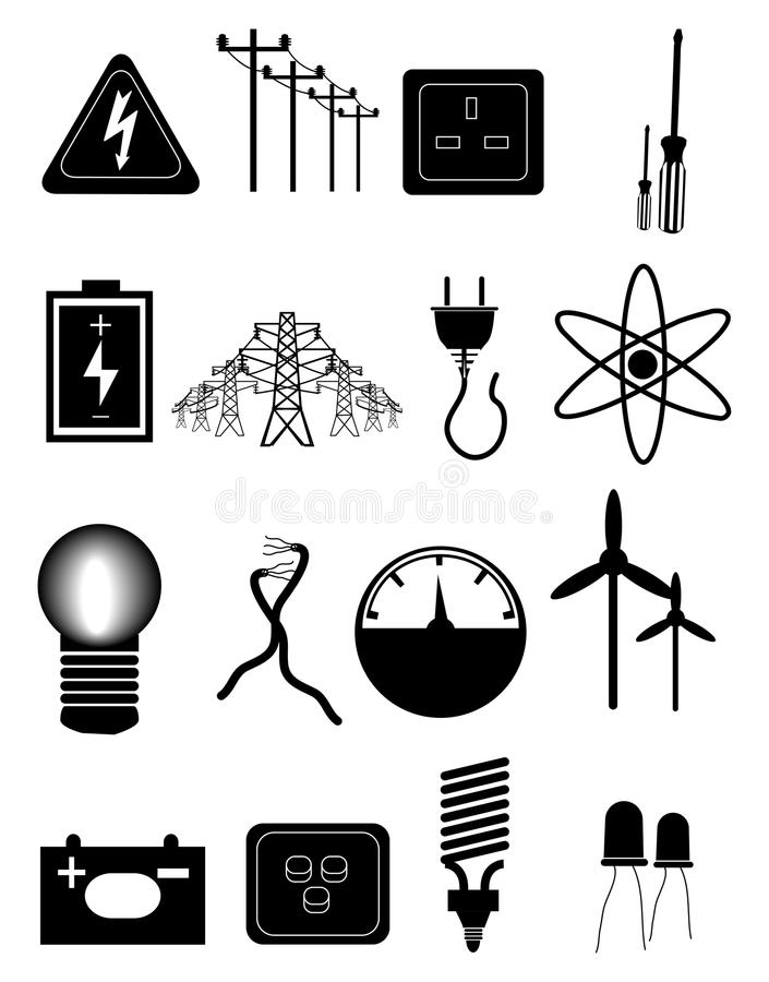 Free Energy And Electricity Icons Set Stock Images - 45146354