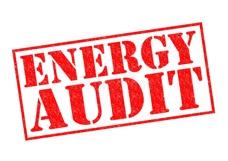 ENERGY AUDIT royalty free stock photography