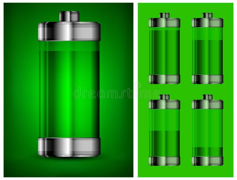Energy Battery In Green Stock Images