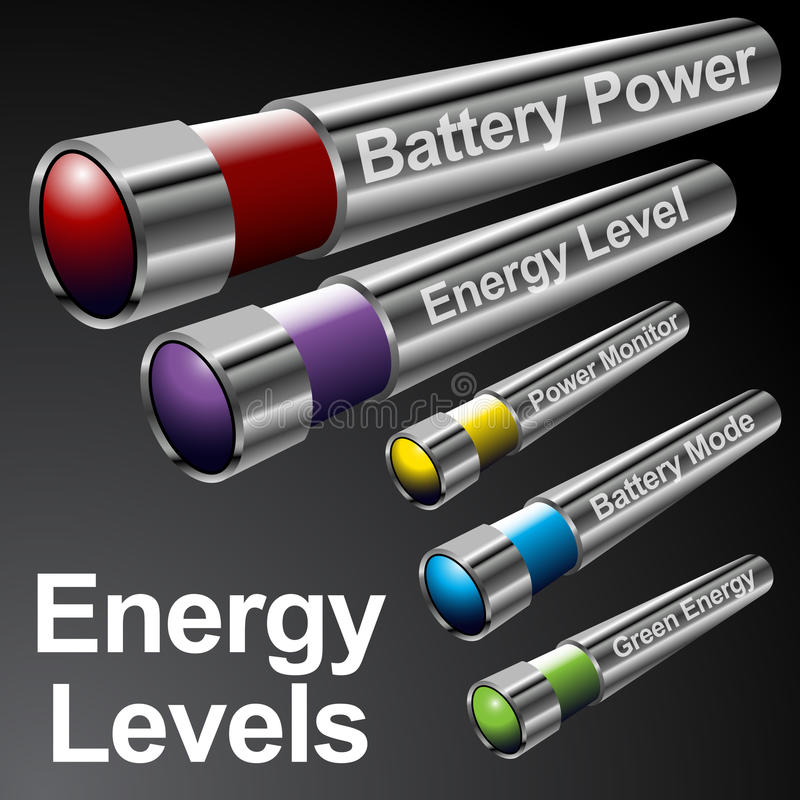 Energy Battery Menu Bars vector illustration