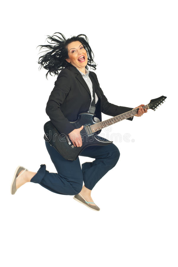 Download Energy Business  Woman With Guitar Stock Photo - Image: 17869254