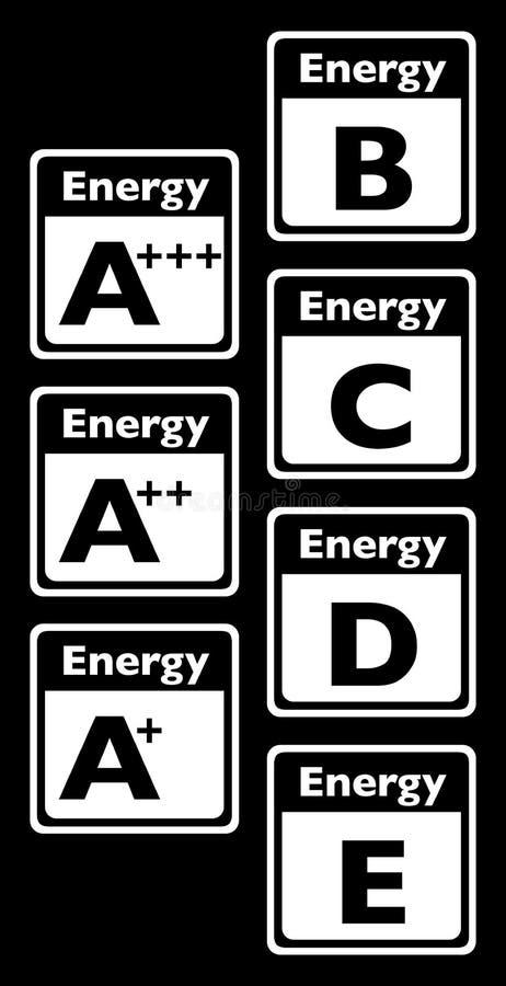 Energy class tag vector illustration