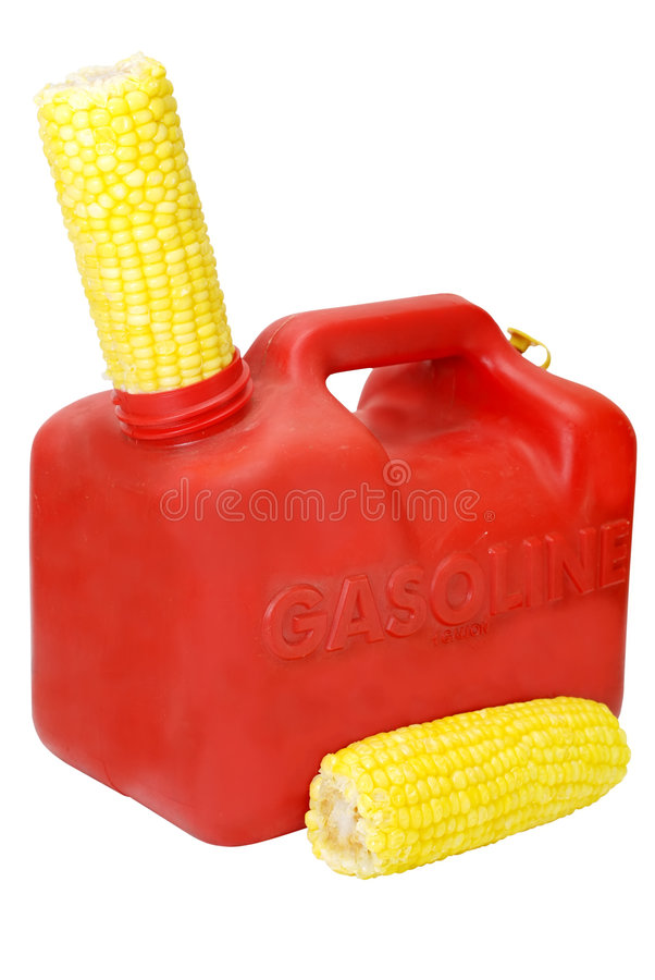 Energy Concept with Corn Isolated stock image