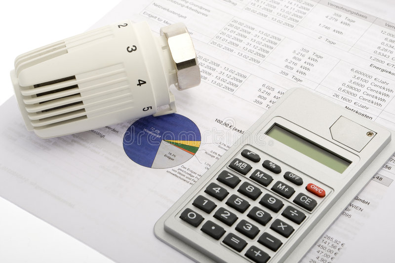 Energy costs royalty free stock images