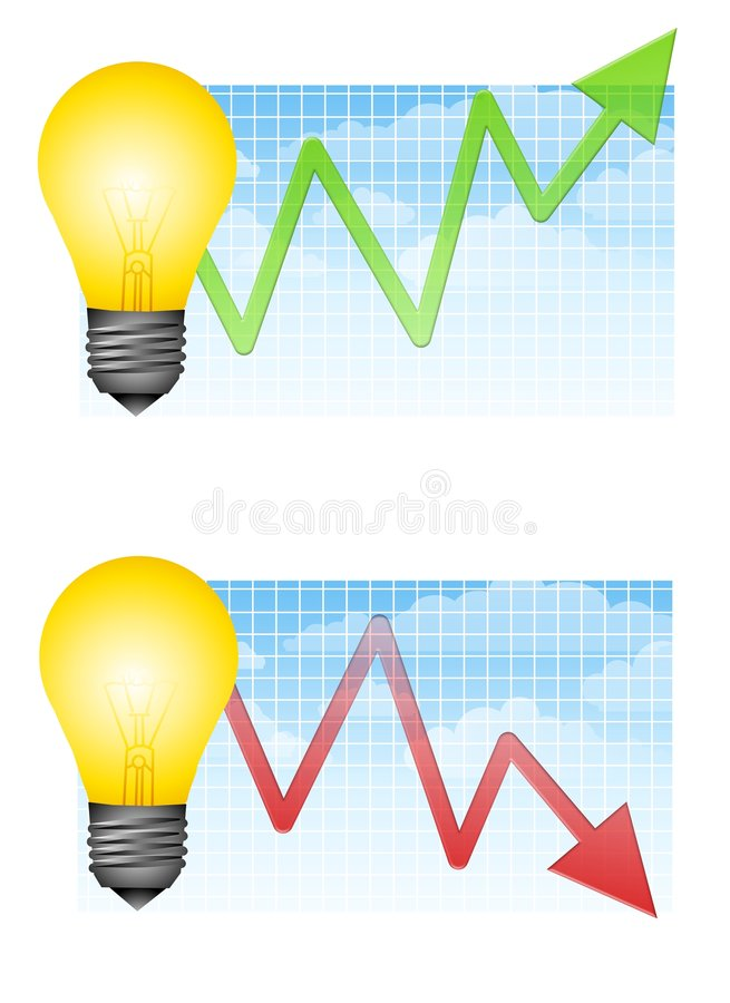 Free Energy Costs Going Up And Down Royalty Free Stock Photo - 4882555