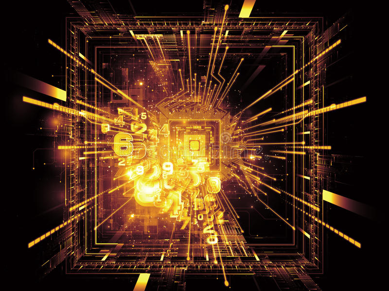Download Energy of CPU stock illustration. Image of concept, energy - 25528299