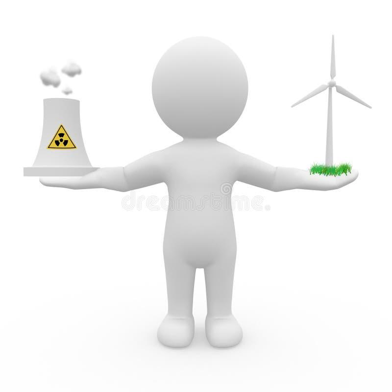 Energy debate royalty free stock images