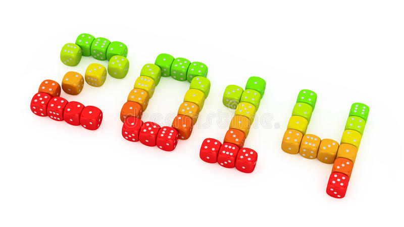 Download Energy dice 2014 stock illustration. Image of digits - 30323092