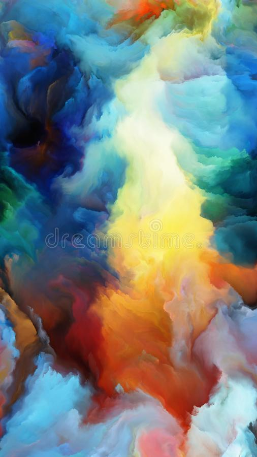 Energy of Digital Paint royalty free illustration