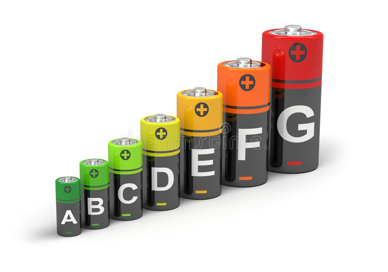 Energy efficiency concept stock illustration