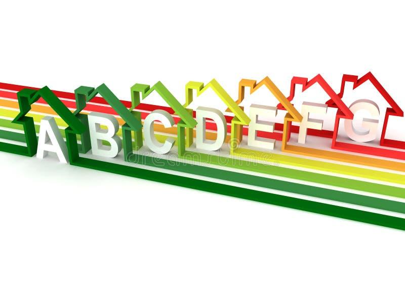 Energy efficiency concept on white background stock illustration