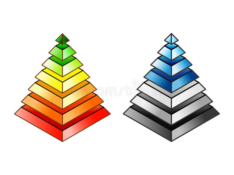 Energy efficiency and environmental impact rating stock illustration