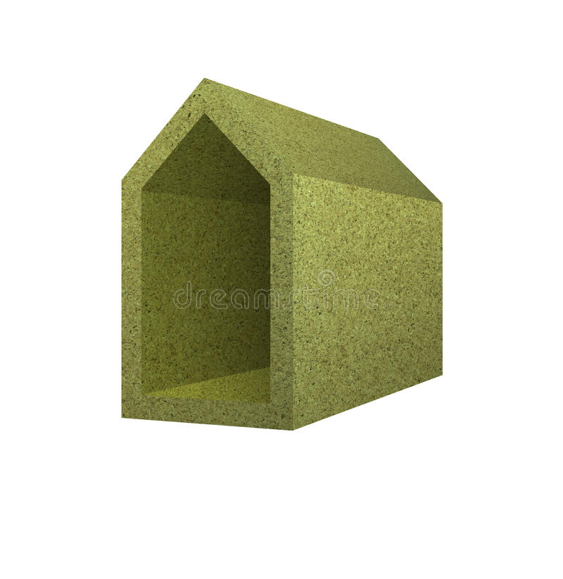 Energy Efficiency: home concept thermally insulated stock image