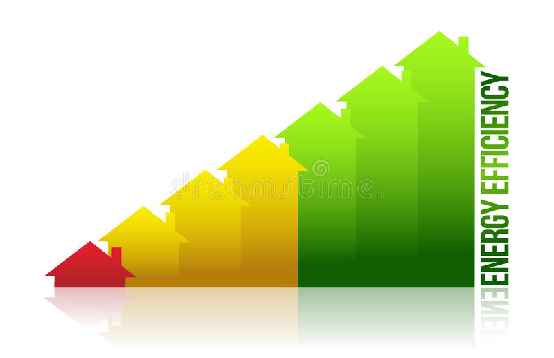 Download Energy Efficiency House Graph Stock Illustration - Image: 26590304
