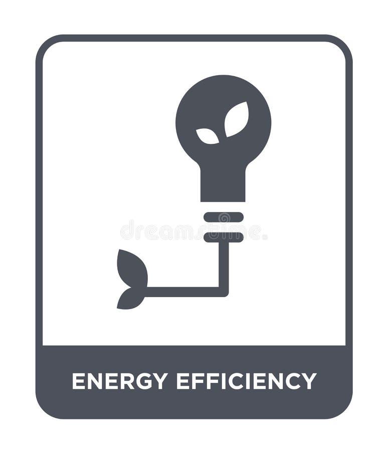 energy efficiency icon in trendy design style. energy efficiency icon isolated on white background. energy efficiency vector icon vector illustration