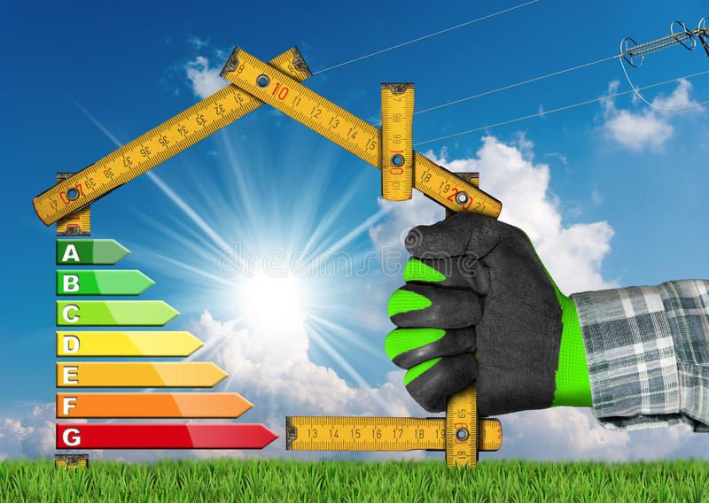 Energy Efficiency - Project of Ecological House royalty free stock photography