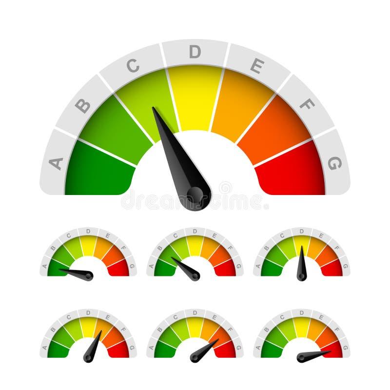 Energy efficiency rating stock illustration