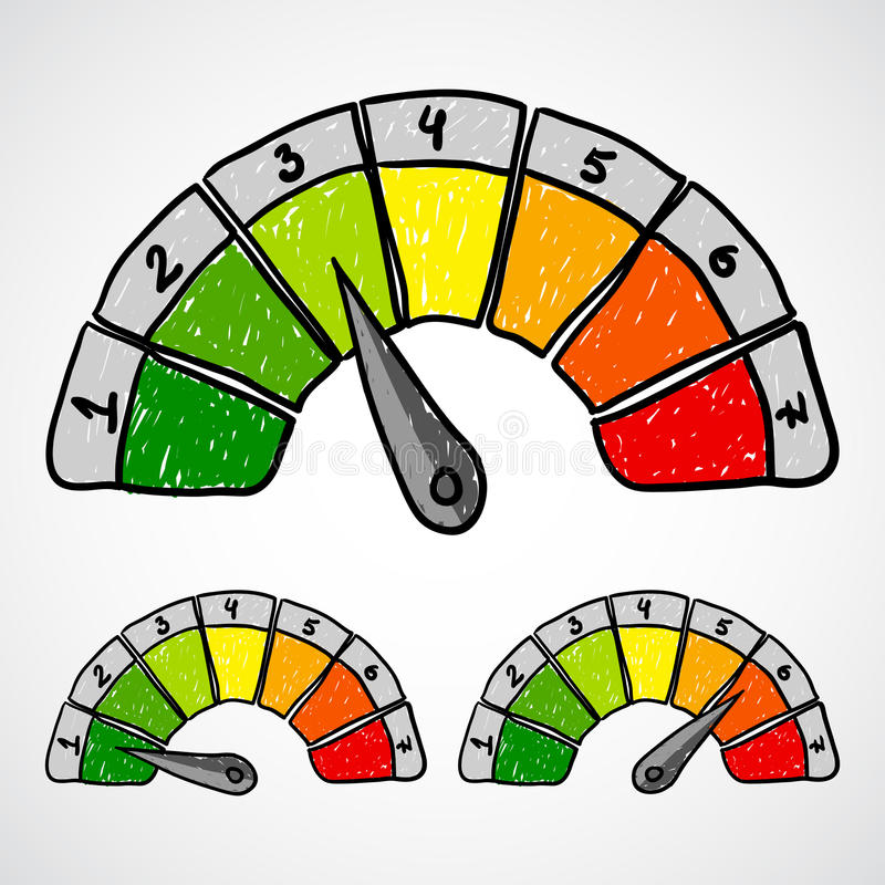 Download Energy Efficiency Rating. Doodle Vector. Stock Illustration - Image: 28648351