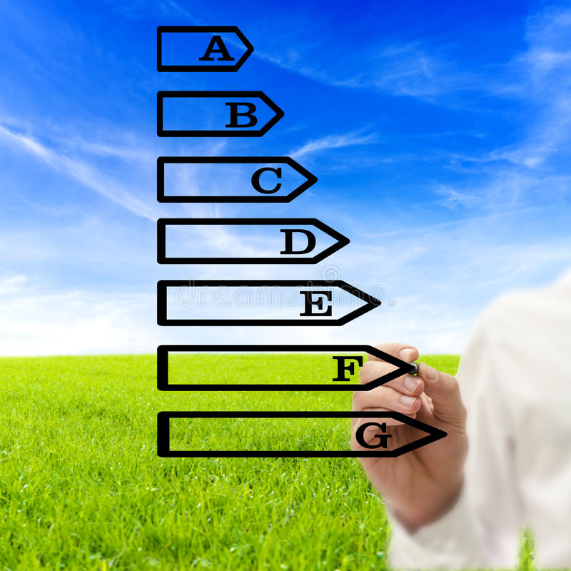 Energy efficiency rating royalty free stock photo