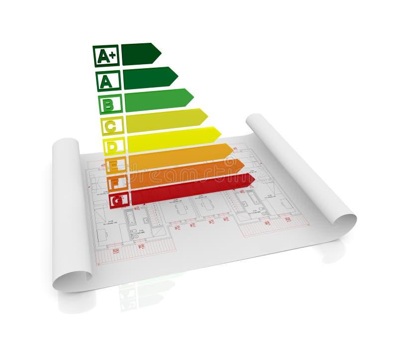 Energy efficiency scale stock illustration