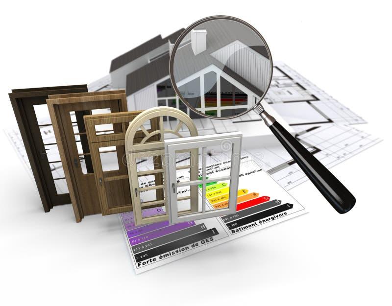 Energy efficient construction vector illustration