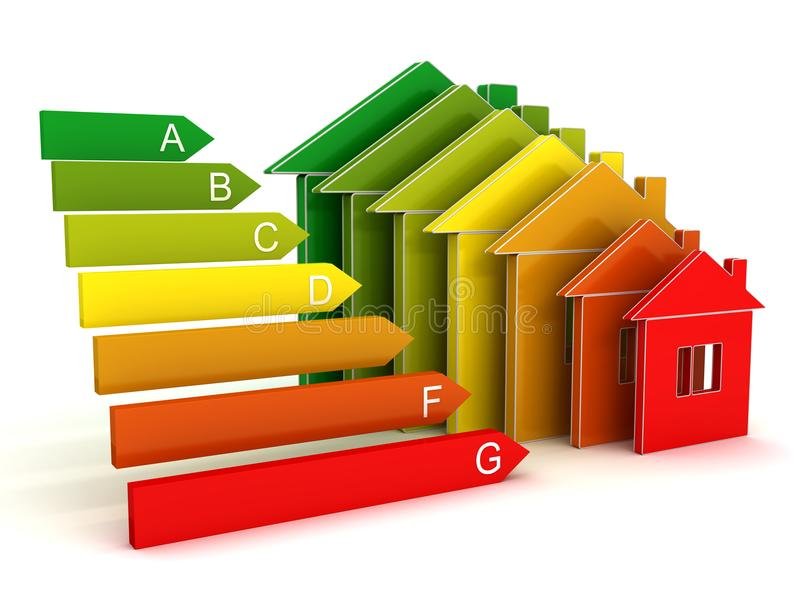 Energy efficient home royalty free illustration