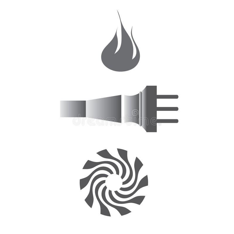 Energy elements royalty free illustration