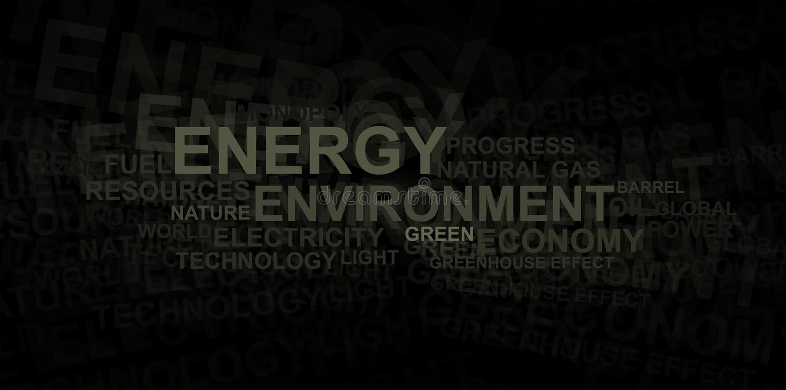 Download Energy And Environment – Word Cloud Stock Illustration - Illustration: 15425819