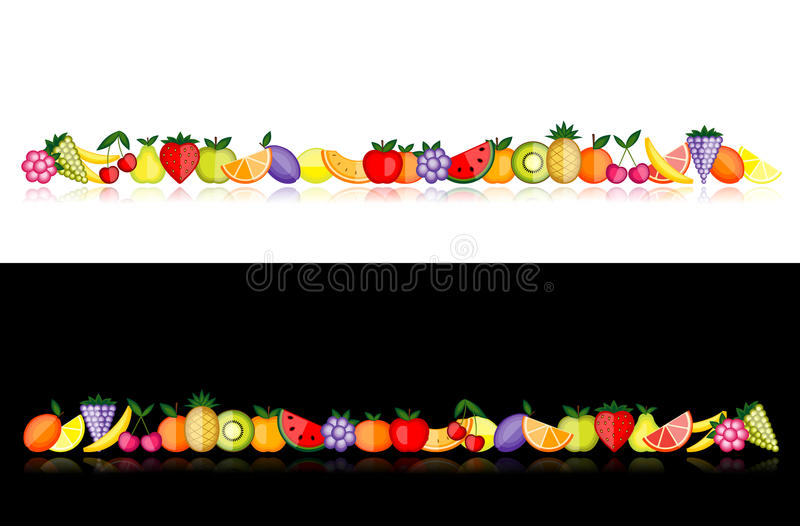 Energy fruits. Vector collection for your design stock illustration