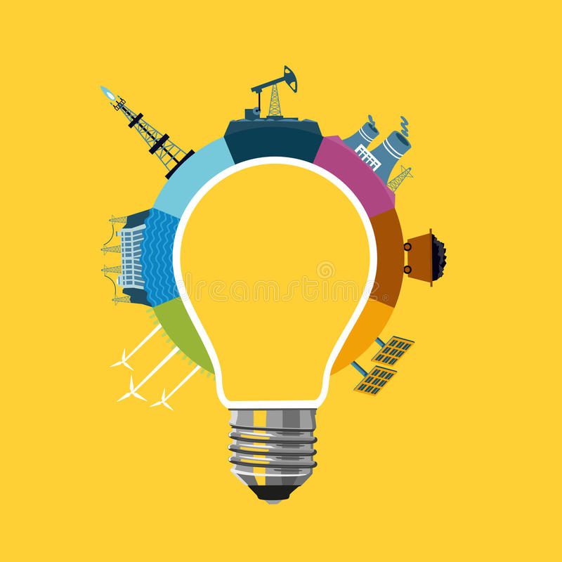 Energy generation concept. vector illustration