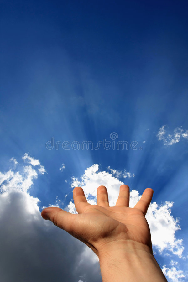 Energy of hand royalty free stock images