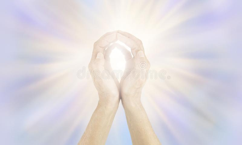 Energy healer sending out high vibrational energy royalty free stock photography