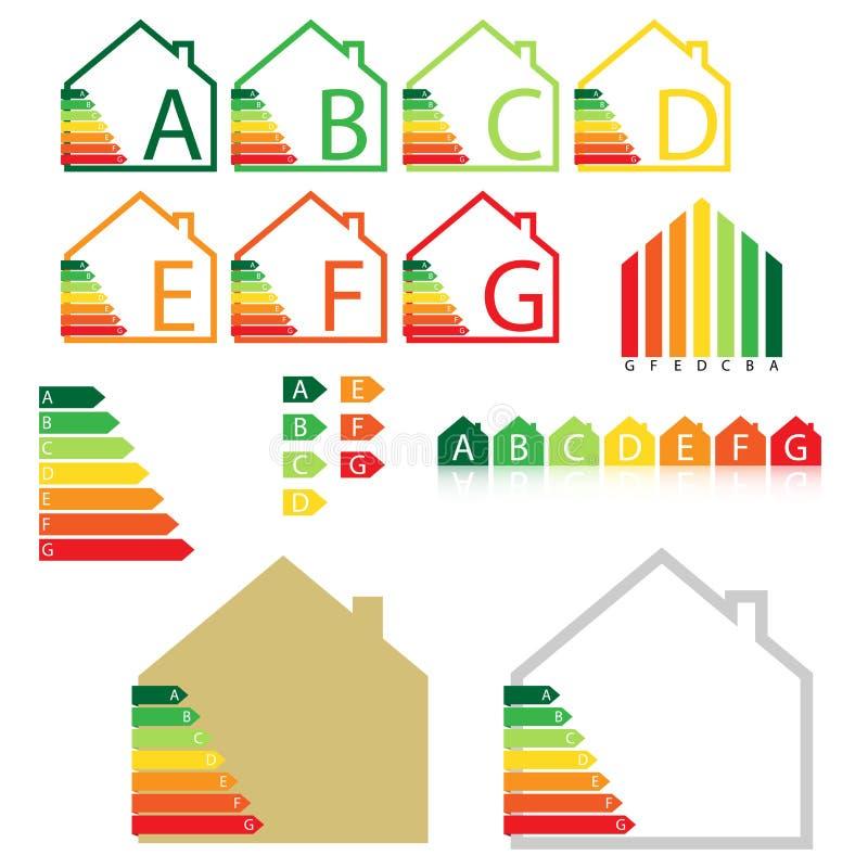 Energy house rating royalty free illustration