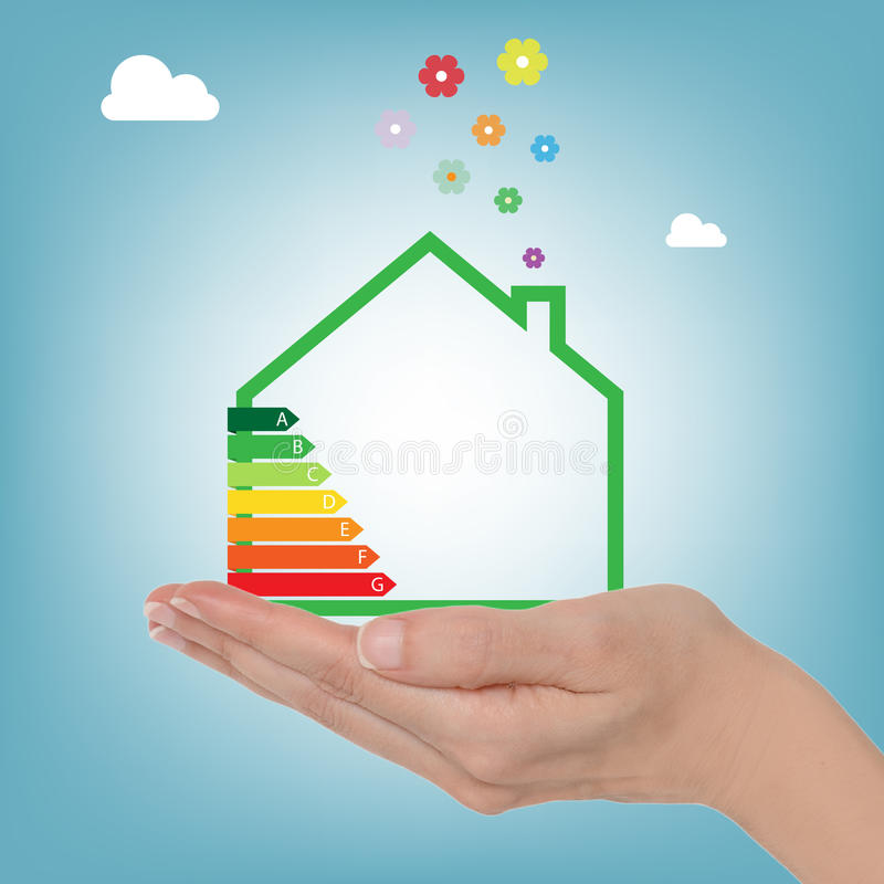 Energy house rating vector illustration