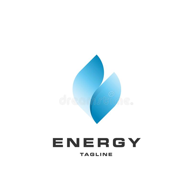 Energy icon in blue color vector illustration