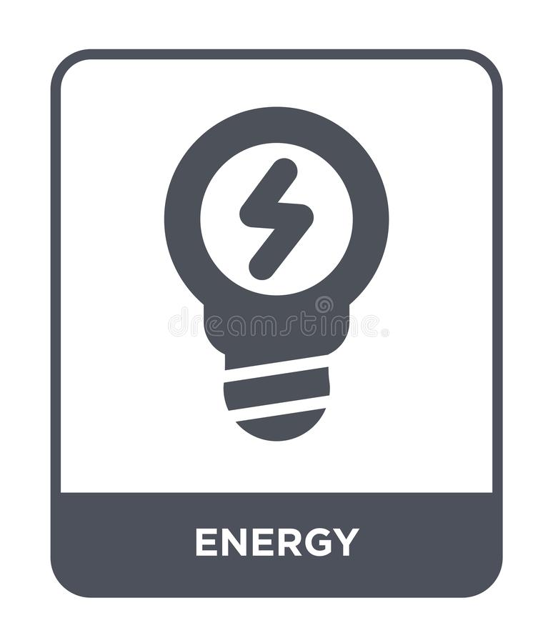 Energy icon in trendy design style. energy icon isolated on white background. energy vector icon simple and modern flat symbol for. Web site, mobile, logo, app stock illustration