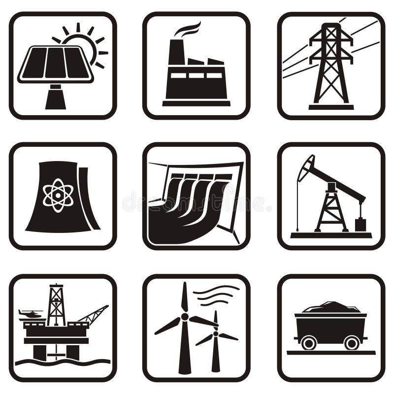 Energy icons stock illustration