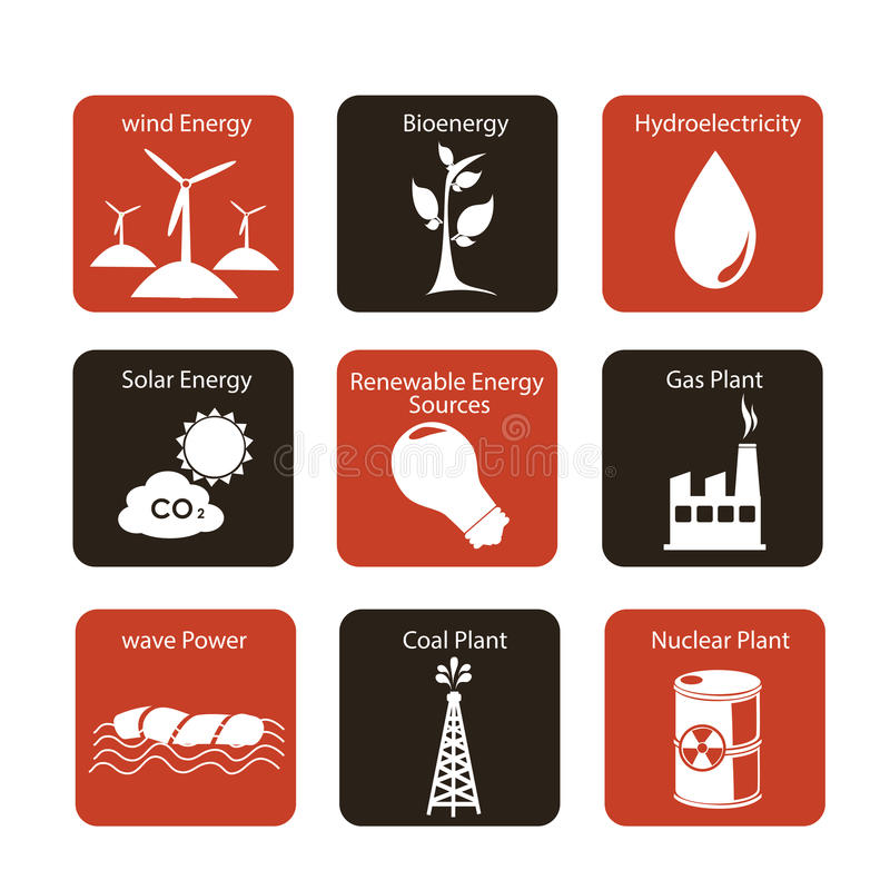 Download Energy Icons Stock Photos - Image: 31337523