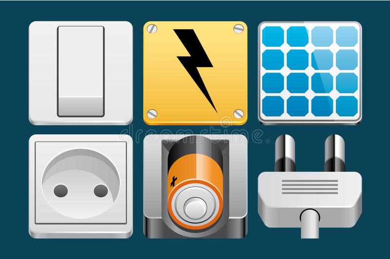 Download Energy icons stock vector. Illustration of panel, plug - 32398622