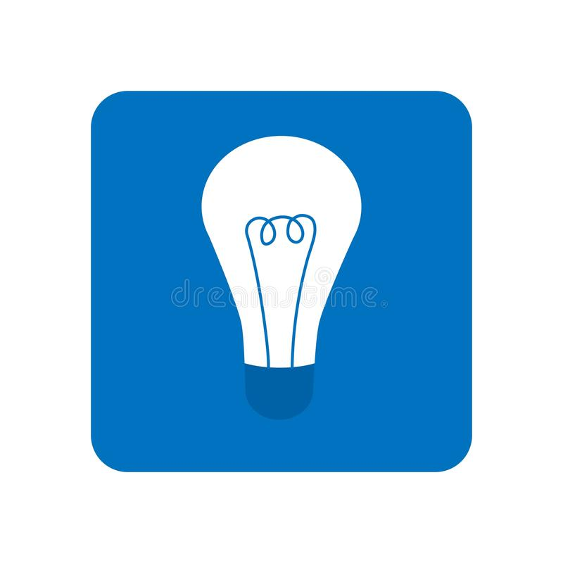 Energy and idea symbol. Light bulb icon in blue color. Lamp icon logo royalty free illustration