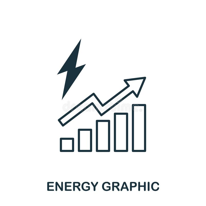Energy Increase Graphic icon. Mobile apps, printing and more usage. Simple element sing. Monochrome Energy Increase Graphic icon i. Llustration stock illustration