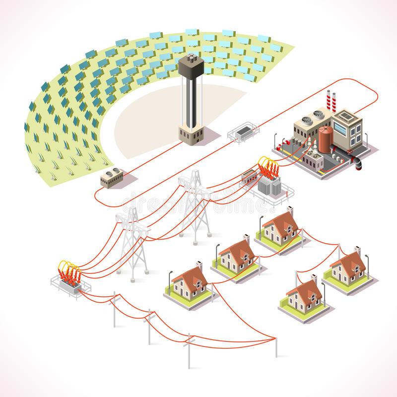 Energy 18 Infographic Isometric royalty free illustration