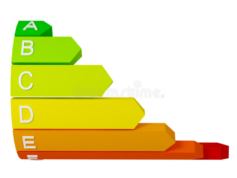 Energy Label Background Stock Photography
