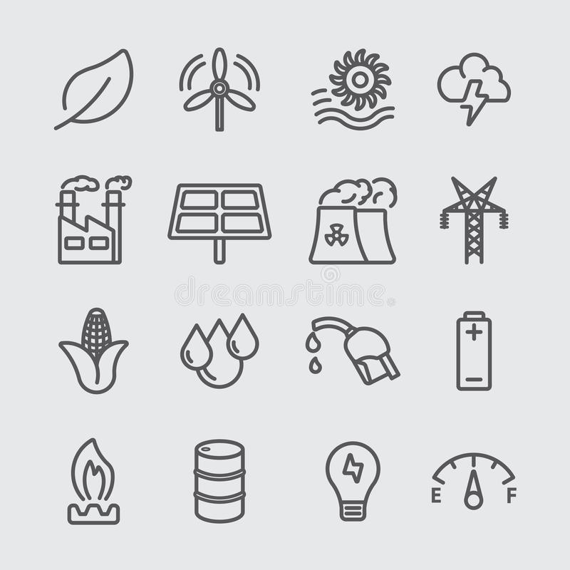 Energy line icon royalty free illustration