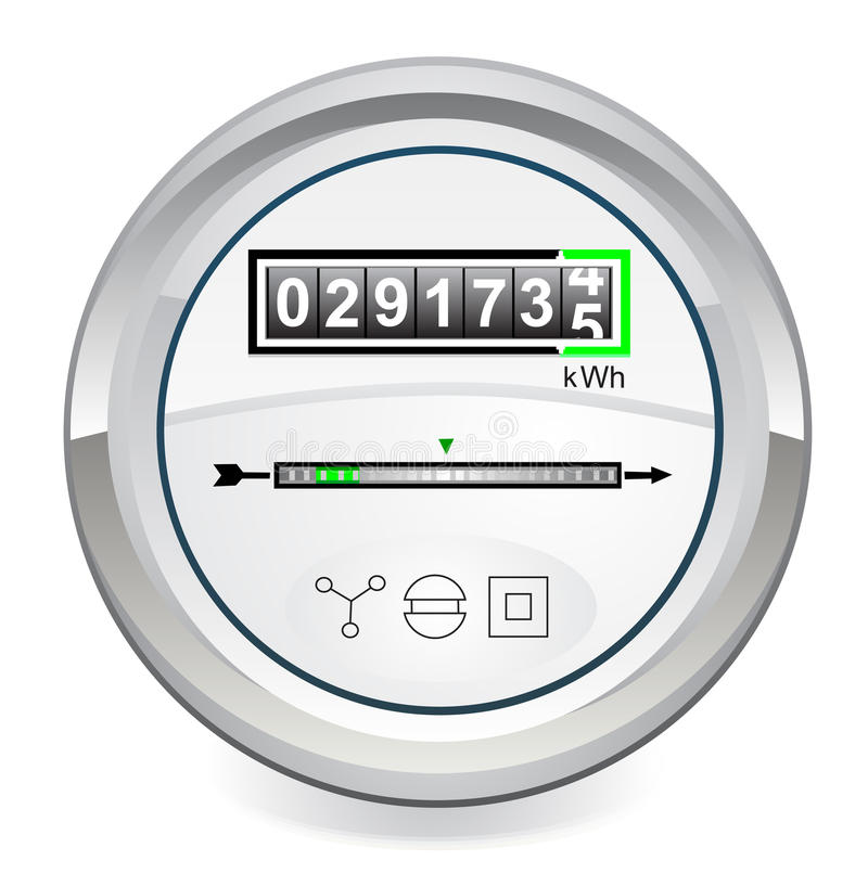 Energy meter royalty free illustration