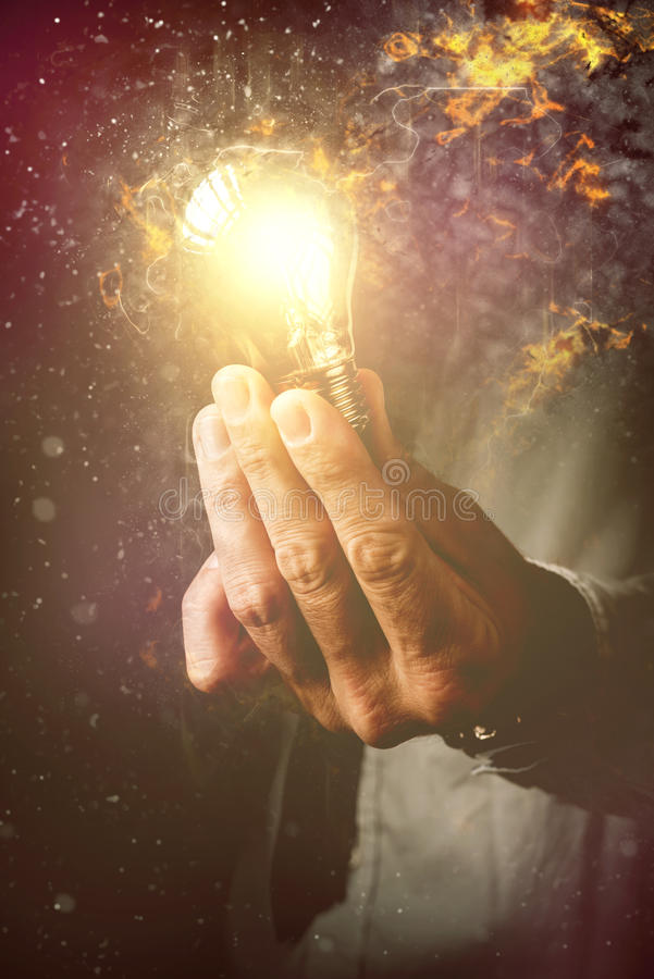 Energy of new ideas in business process royalty free stock image