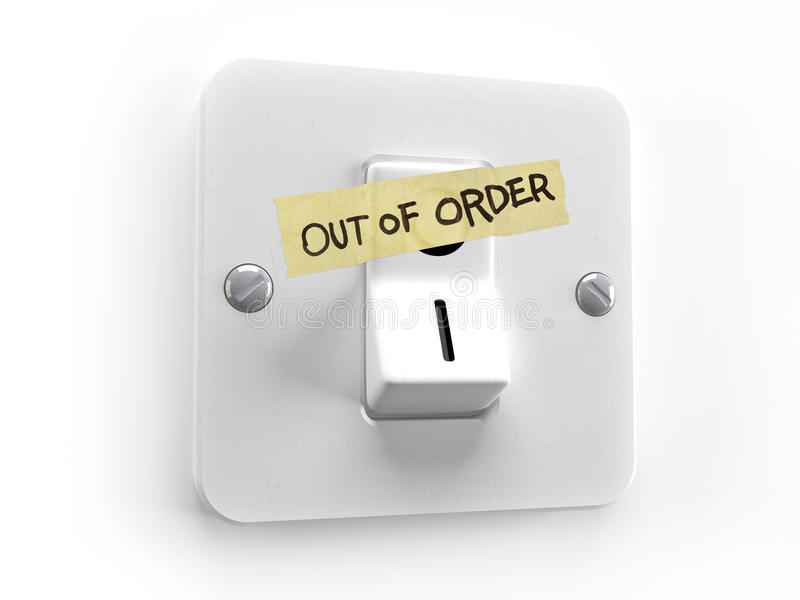 Energy Out of order vector illustration