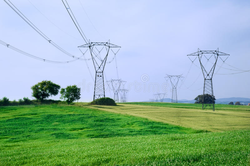 Download Energy And Overhead Powerline Stock Image - Image: 24565707