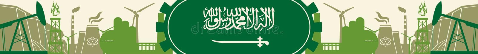 Download Energy And Power Icons Set. Header Banner With Saudi Arabia Flag Stock Vector - Illustration of header, engineering: 75829757